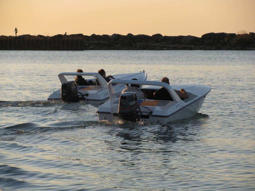 X-15 Boats Sunset White