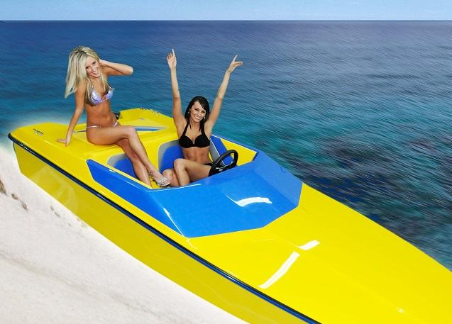 X-15 Boat Girls Yellow