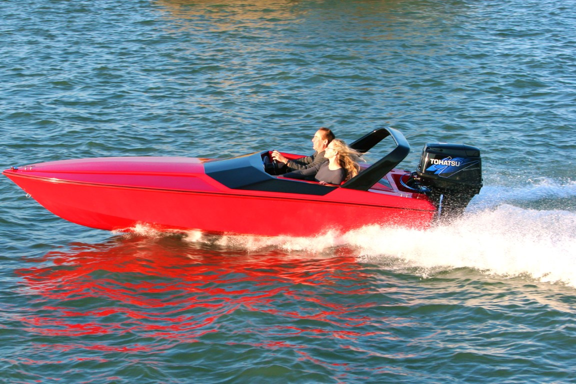 X-15 Boat Sunset Red